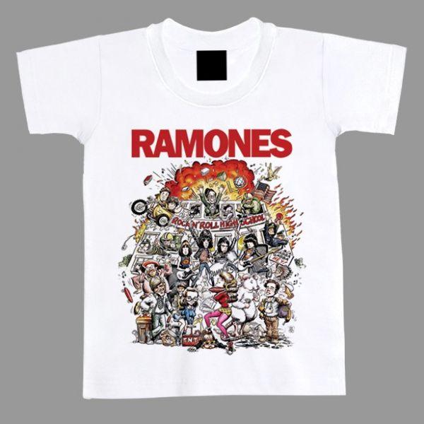 784285ef86562 Camiseta Infantil Ramones Rock N  Roll High School - Geek Store ...